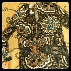 H&M Long sleeved. Open back shift dress